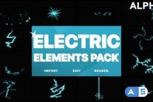 Videohive Electric Elements   Motion Graphics Pack 21667621