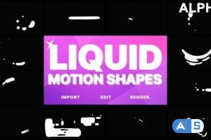 Videohive Liquid Motion Shapes | Motion Graphics Pack 21633244