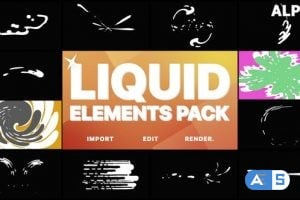Videohive Liquid Motion Elements And Transitions   Motion Graphics Pack 22662649