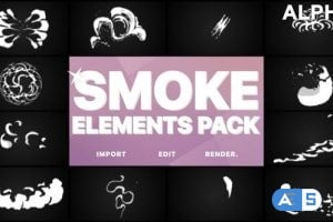 Videohive Smoke Elements | Motion Graphics Pack 21516356