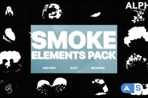 Videohive 2D FX Smoke Elements   Motion Graphics Pack 22721136