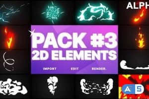 Videohive Flash FX Elements Pack 03 | Motion Graphics Pack 23353013
