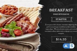Videohive Restaurant Dishes Grunge Promo 26520521