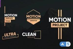 Videohive Clean Motion Titles-Premiere Pro 26342522