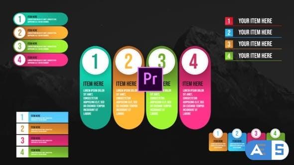 Videohive Infographic Unique Lists-Premiere Pro 26401641
