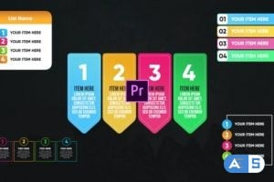Videohive Infographic Colorful Lists-Premiere Pro 26467692