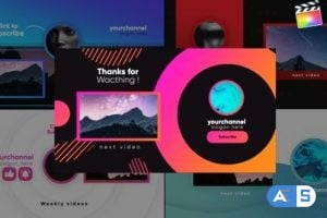 Videohive Youtube Stylish Endcards-Final Cut Pro  26466780