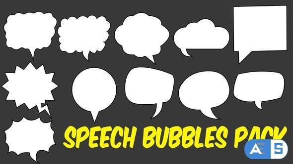 Videohive Speech Bubbles Pack 21594187