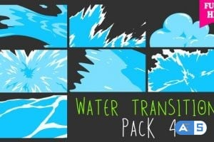 Videohive Water Transitions Pack 4 21931227