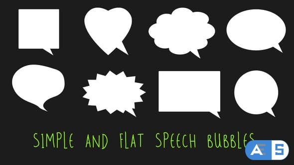 Videohive Simple and Flat Speech Bubbles 22290973