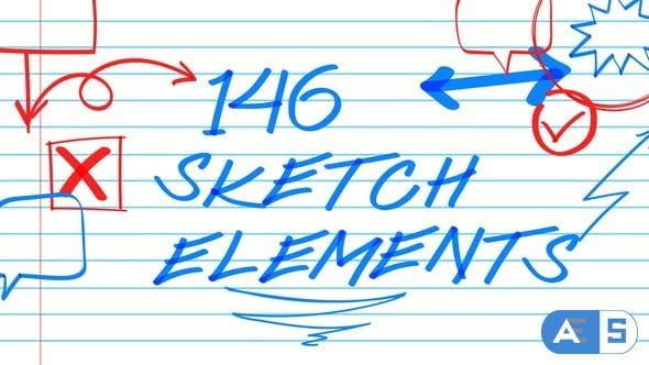 Videohive 146 Sketch Elements 22476704