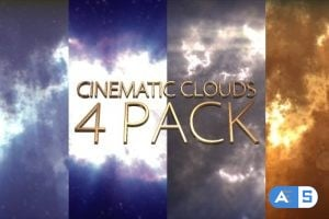 Videohive Cinematic Clouds 4 Pack 13957376