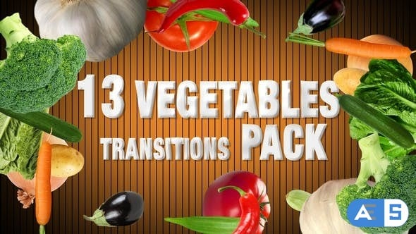 Videohive Vegetables Transitions Pack 15515844