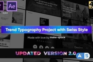 Videohive Swiss Typography Pack – for Premiere Pro | Essential Graphics V2 25227529
