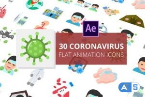 Videohive Coronavirus Flat Animation Icons | After Effects 26517928