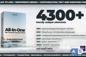 Videohive TG Library // 4300+ Motion Graphics Elements V4 24321544