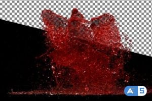Videohive Red Wine Splash Dance 14469948