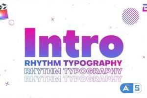 Videohive Rhythm Typography Intro 26475059