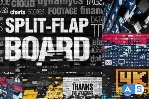 Videohive Split-Flap Board 26328332