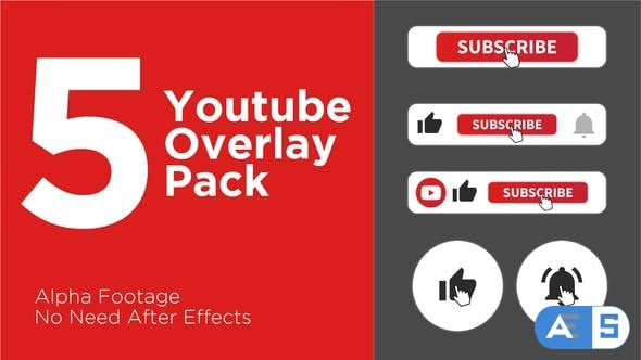 Videohive Clean Youtube Subscribe Button Pack 24416500