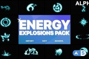 Videohive Energy Explosion Elements Motion Graphics Pack 21858703