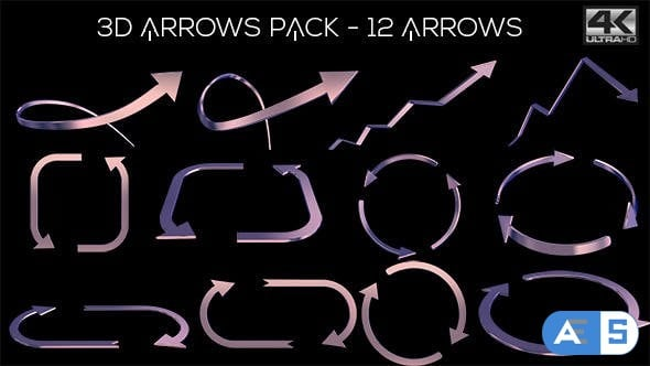 Videohive 3D Arrows Pack 11772620