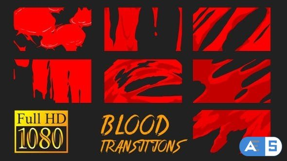 Videohive Blood Transitions 22973925
