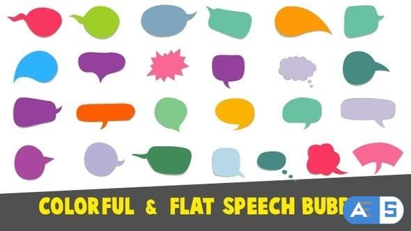 Videohive Colorful Flat Speech Bubbles 23092617