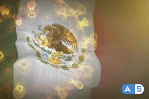 Videohive Mexico Flag With Corona Virus Bacteria 25996560