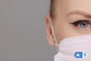Videohive Portrait of Surgeon Close Up, Doctor with Protective Mask Extreme Close Up 26239757