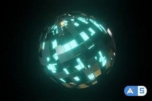 Videohive Globe With Light Panels 26352662