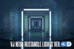 Videohive VJ Neon Rectangle Lights Loops Ver.2 – 4 Pack 24102561