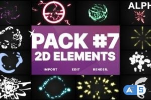 Videohive Flash Fx Elements Pack 07 | Motion Graphics Pack 26203523