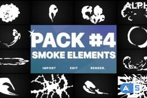 Videohive Smoke Elements Pack 04   Motion Graphics Pack 26192512