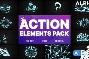Videohive Action Elements | Motion Graphics Pack 26118508