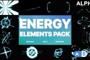 Videohive Cartoon Energy Elements Pack | Motion Graphics Pack 25028870