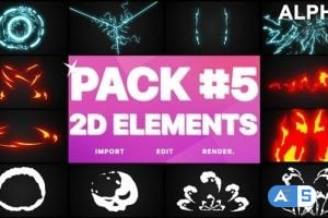 Videohive Elements Pack 05 | Motion Graphics Pack 24368302