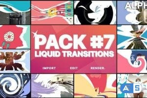 Videohive Liquid Transitions Pack 07 | Motion Graphics Pack 23690640