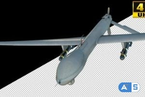 Videohive Air Strike Drone Fighter On Alpha Channel Loops V1 26436004