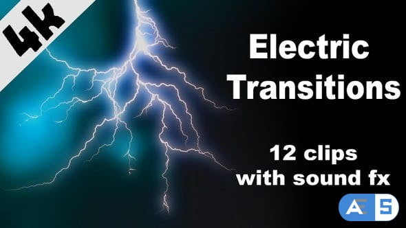Videohive Electric Transitions 24264523