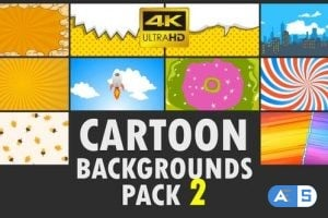 Videohive Cartoon Backgrounds Pack 2 23583983