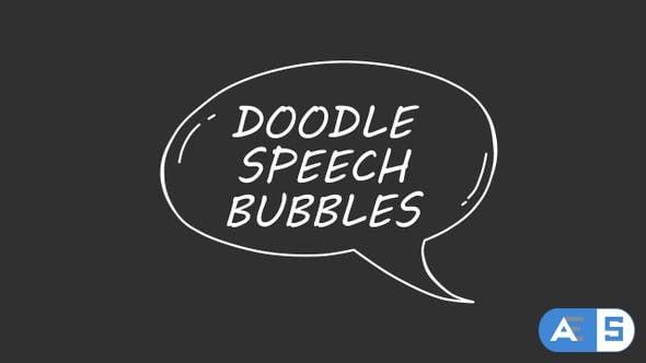 Videohive Doodle Speech Bubbles 23908947