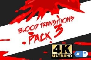 Videohive Blood Transitions Pack 3 25021781