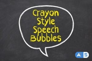 Videohive Crayon Style Speech Bubbles 25921163