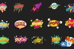 Videohive Comic Bubbles Pack 5 26137016