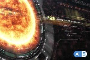 Videohive Futuristic Holographic Sun Corona Head Up Display 23667752