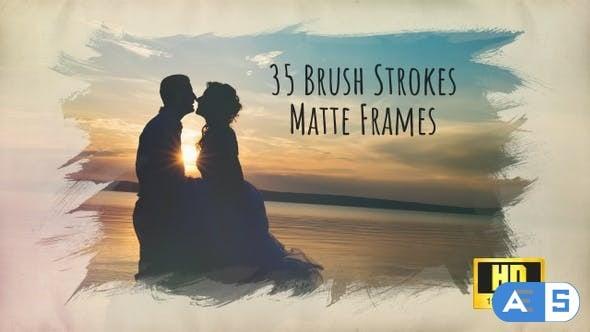 Videohive Brush Strokes – 35 HD Matte Frames 24174931