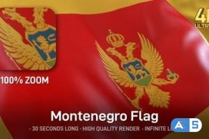 Videohive Montenegro Flag – 4K 25319865