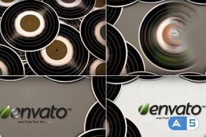 Videohive Gramophone Disk logo reveal 5406811