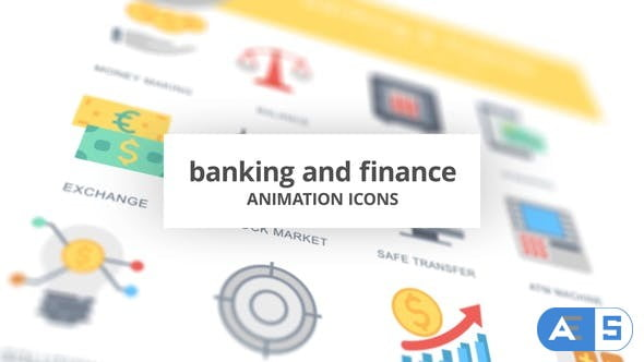 Videohive Banking and Finance – Animation Icons 26634248